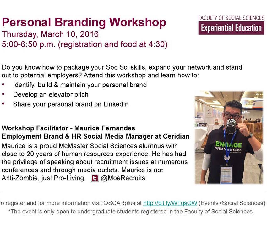 EE & MSSS Personal Branding Workshop